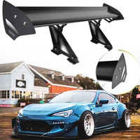 110cm Adjustable Black Rear Racing GT Spoiler Wing Lightweight Aluminum Car GT Rear Trunk Wing Racing Spoiler