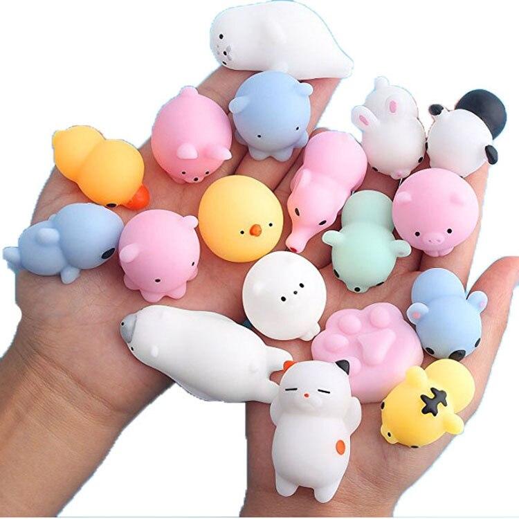 Сжимаемые животные антистресс игрушки слизи сжимаемые игрушки милый Антистресс мяч Abreact мягкий липкий снятие стресса забавные игрушки для детей|Игрушки-эспандеры|   | АлиЭкспресс