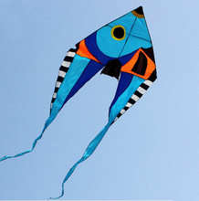 NEW High Quality Single Line 5.5 M Power Fish Kite With Handle And Line Good Flying
