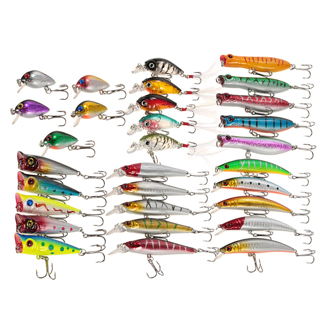 Fishing Lure Set Assorted Hard Baits 30pcs