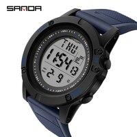 SANDA G Hombres 30 m impermeable reloj LED reloj de cuarzo deporte reloj masculino relogios masculino S Shock reloj hombres
