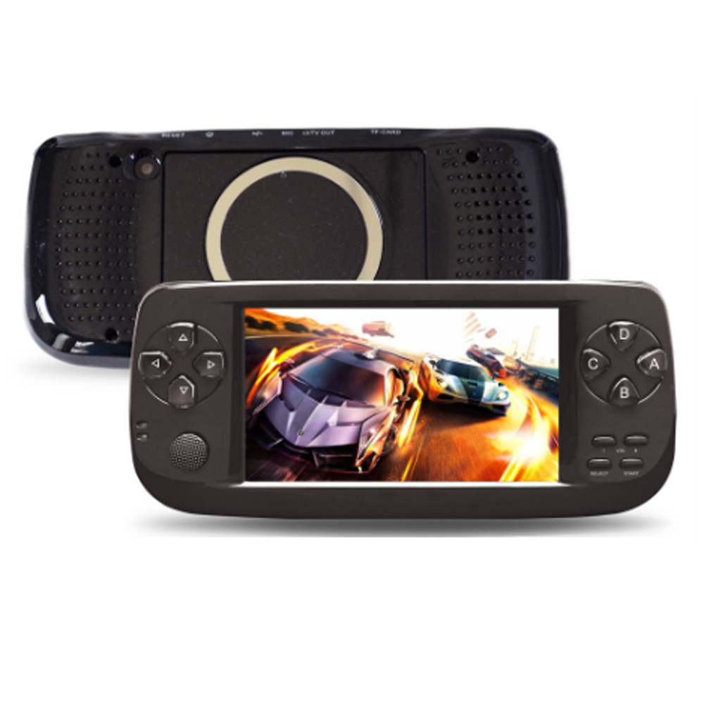 PAP K3 4.3 inch game console Handheld Game Console 32 bit Portable Video Game Built in 500 Games Support for GBA/NEO GEO game portable 3 inch 16 bit handheld game console black and blue