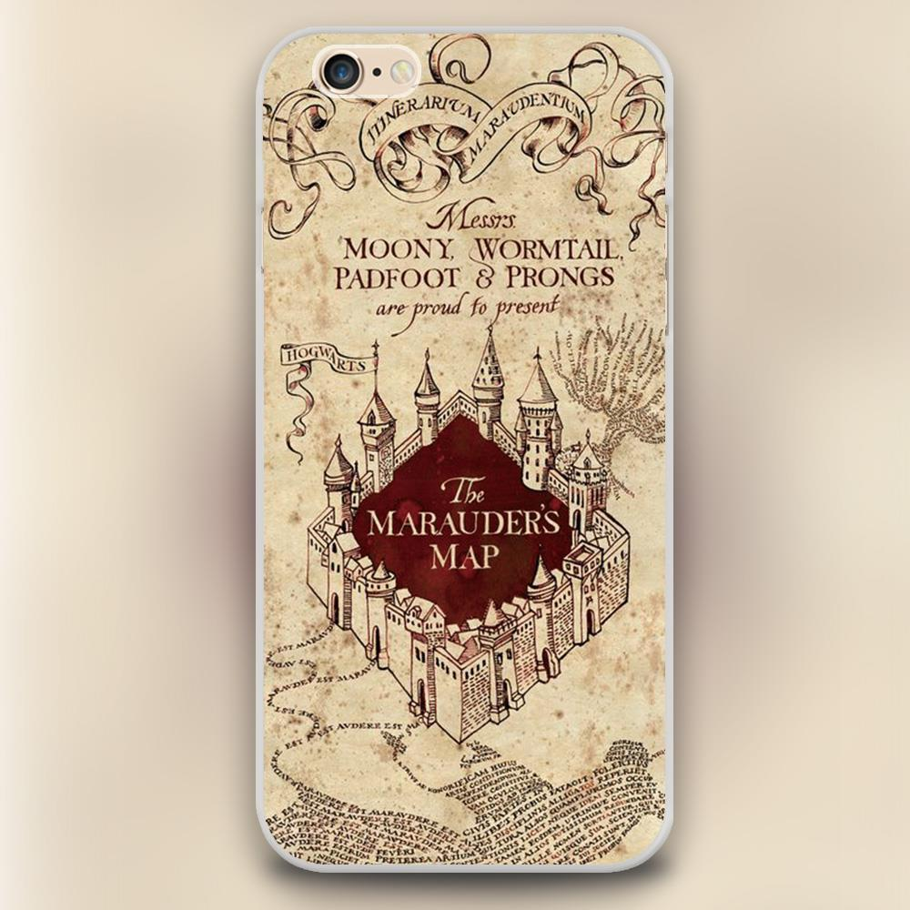 quality design a4af9 91d31 US $1.91  The Marauder's map Harry Potter Design black skin plastic case  cover cell phone cases for iphone 4 4s 5 5c 5s 6 6s 6plus shell on ...