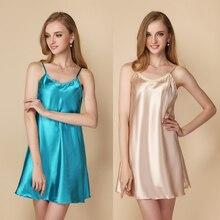 Women Nightgown Lace Element Mini Sleepshirt Nightdress Sheer Chemises Sleepwear Sexy Nightie