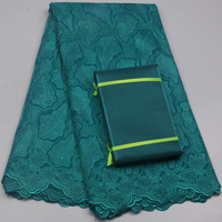 Wholesale Retail Swiss Voile Lace High Quality African Lace Fabric With Stones For Party Dress Macthing