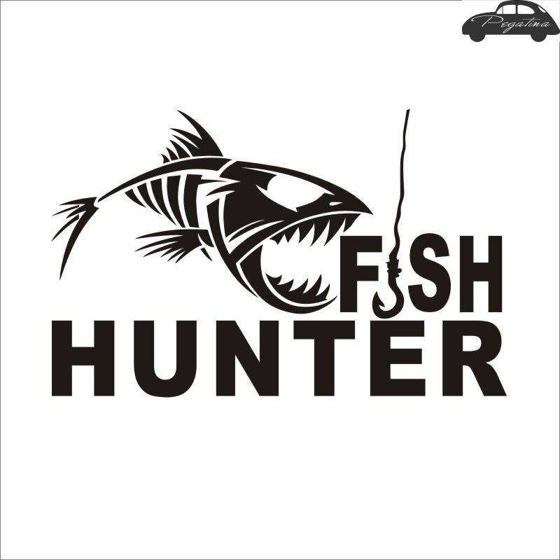 Fishing Hunter Skull Fish Sticker Fish Decal Posters Wall Decals Pegatina Decor MuralFisher Sticker