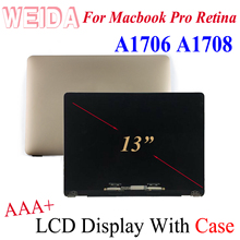 WEIDA 95% New LCD 15.4″ For Macbook Pro Retina 13″ A1706 A1708 Display Touch Screen Full Complete Assembly Replacement