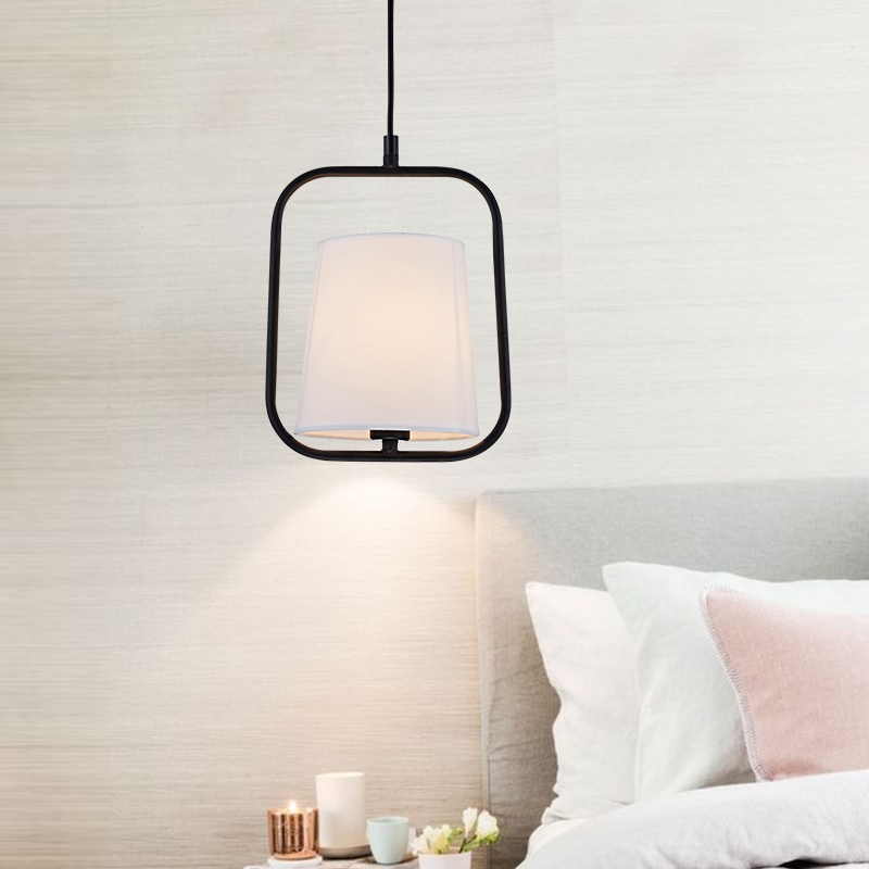 Loft Simple Wrought Iron Cloth Cover Droplight Restaurant Lounge Bar Decorative Single Head Pendant Lamp From Dining Room Cafe edison inustrial loft vintage amber glass basin pendant lights lamp for cafe bar hall bedroom club dining room droplight decor