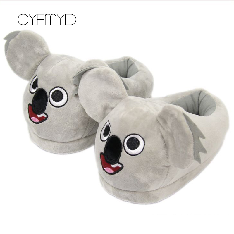 Women 39 s Shoes Winter EVA Flock Lovely Fur Slippers For Girls Casual Shallow Animal Prints Home Slippers Woman in Slippers from Shoes