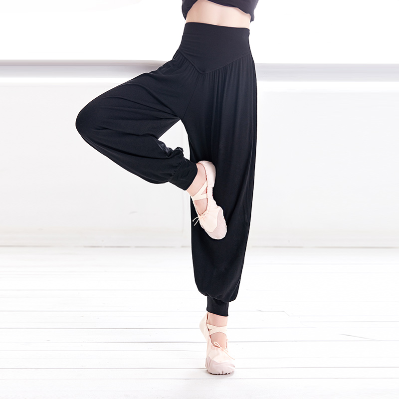 Girls Harem Pants Dance Sport Yoga Pants Kids Trousers Harlem Pants Children High Elastic Waist Harem Pants Dance Wear