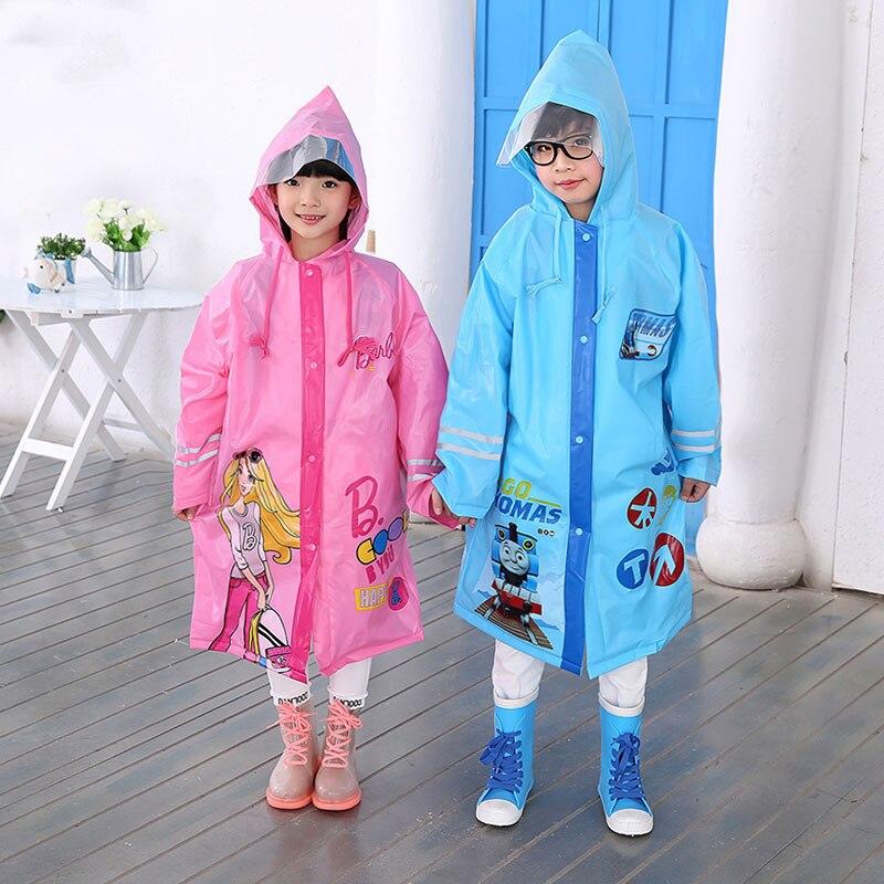 Children Kids Girls Boys Waterproof Windbreaker Raincoat Hooded Jacket Rain Coat