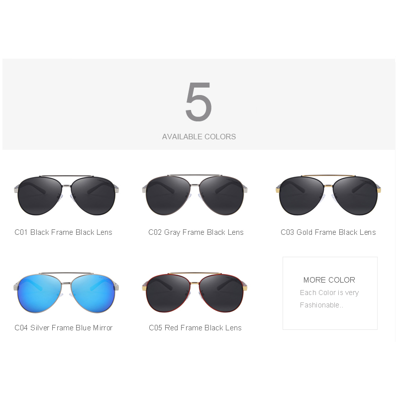 MERRY'S Men Classic Aviation Sunglasses HD Polarized Luxury Brand - Accesorios para la ropa - foto 5
