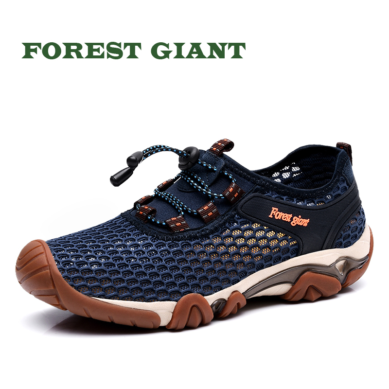 все цены на FOREST GIANT Men's Summer Shoes Size 38-44 Comfortable Men Casual Shoes Mesh Breathable Loafers Slip-on Footwear 1056 онлайн