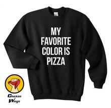 My Favorite Color is Pizza shirt Slice Fashion Hipster Top Crewneck Sweatshirt Unisex More Colors XS - 2XL