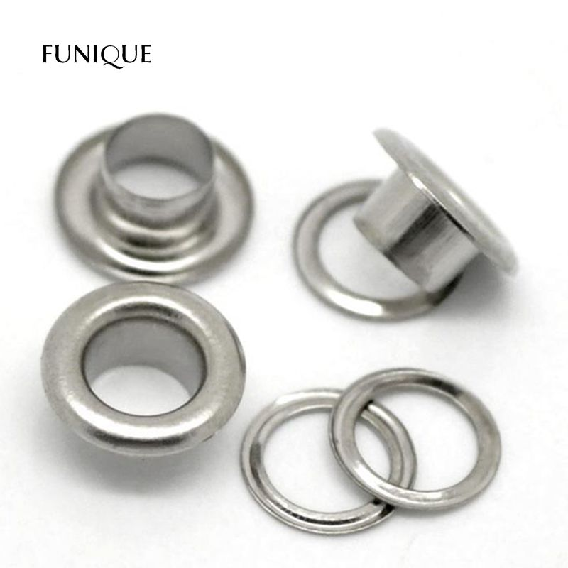 500pcs Silver 500sets Hole 3mm Metal Eyelets with Washer Grommets