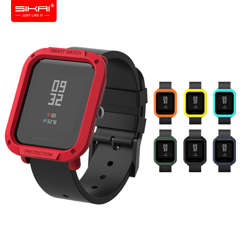 Amazfit Bip protector for xiaomi mi Huami case Smart Watches Accessories SIKAI Black Red Blue Yellow PC Shell Amazfit Bip protector for xiaomi mi Huami case Smart Watches Accessories SIKAI Black Red Blue Yellow PC Shell