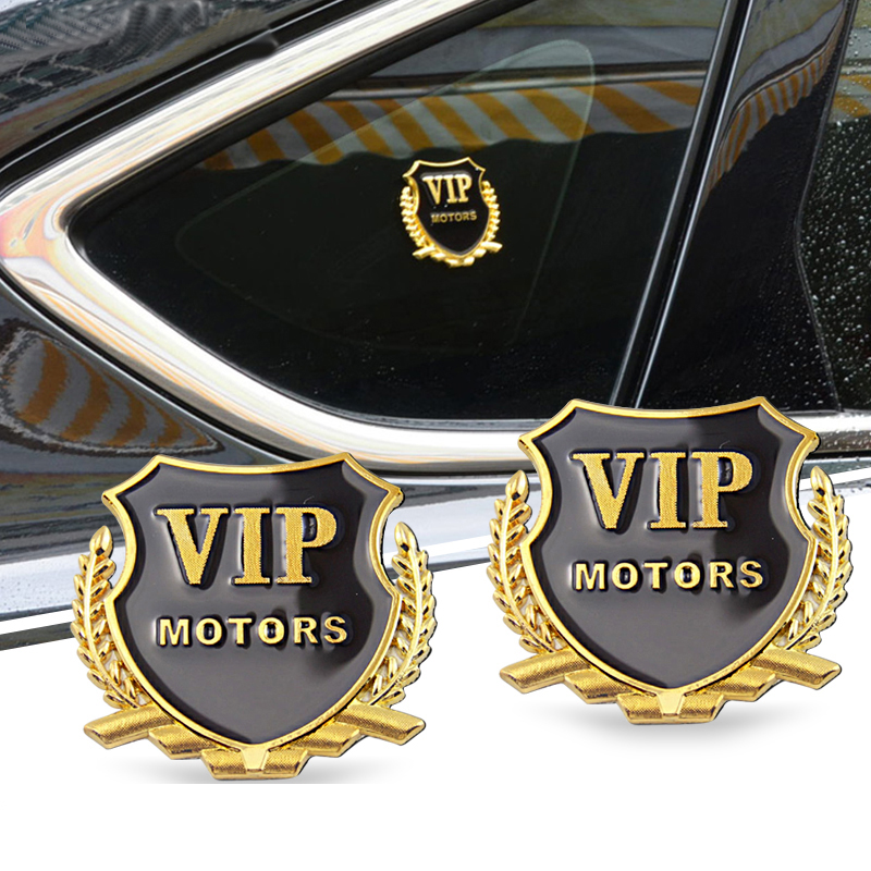 Image 3 - Car Styling VIP Car Metal Stickers For BMW Audi Opel VW KIA Hyundai Peugeot Ford Nissan Mazda Chevrolet Benz Accessories-in Car Stickers from Automobiles & Motorcycles