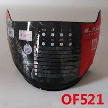 Originale LS2 OF521 Aperto del motociclo del fronte casco visiera black clear LS2 casco occhiali occhiali di protezione anti-graffio lente casco 100% originale LS2