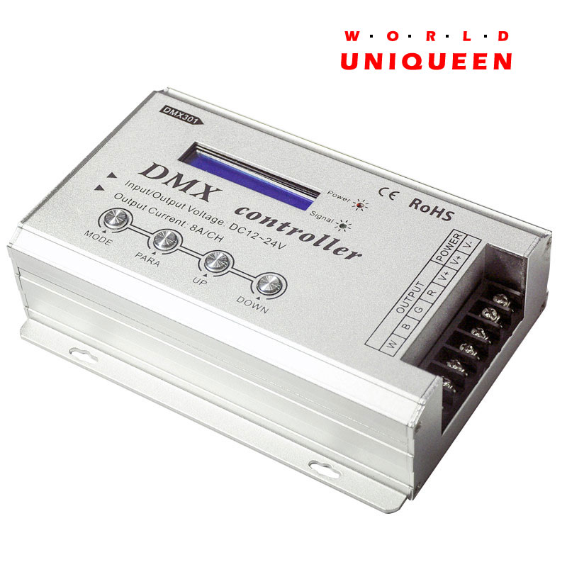 цены DMX301 Low-voltage DC12-24V LED DMX controller with LCD digital display 8A/channel 3 channels for rgb led strip light bulb lamps