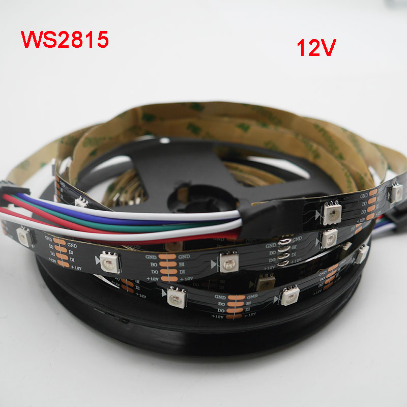1m/3m/5m WS2815 pixel led strip light,Addressable Dual-signal Smart,30/60/144 pixels/leds/m Black/White PCB,IP30/IP65/IP67,DC12V1m/3m/5m WS2815 pixel led strip light,Addressable Dual-signal Smart,30/60/144 pixels/leds/m Black/White PCB,IP30/IP65/IP67,DC12V