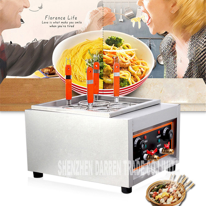 Commercial Electric Pasta cooker JD-JML4 Electric Noodle machine 4 pots stainless steel Pasta boiler cooker Electric fryer 4KW кожаная накладка pu для sony mt27i xperia sola черный