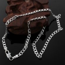 New Listing Hot sell men s silver color 4MM Flat women cute men chain snake Necklace