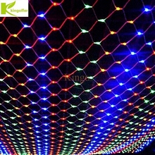 kingoffer 3m2m 204 led net light mesh fairy christmas wedding party fairy string light with 8 function controller euus plug - Multi Function Led Christmas Lights