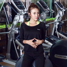 Yoga female long sleeve quick dry T-shirt seven sleeve dance running fitness fitness shirt blouse