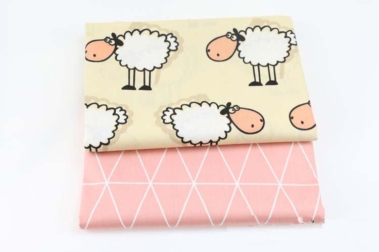 mylb 100% cotton Sheep cloth Korean cartoon printed cloth no fluorescent baby bag quilt bed sleeping bag pure cotton fabric