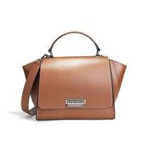 Новый стиль Модные женские повседневные сумки известный бренд разрезная кожаная сумка на молнии дизайнерская сумка через плечо для леди
