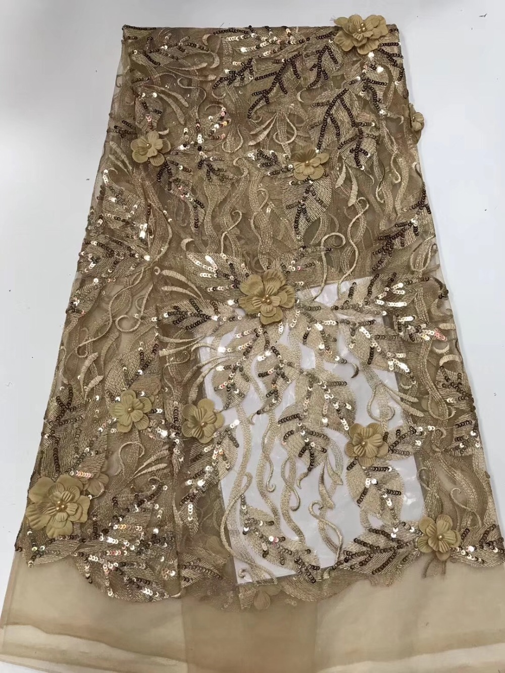 Latest French Manicure Designs: 2019 Latest French Nigerian Laces Fabrics High Quality