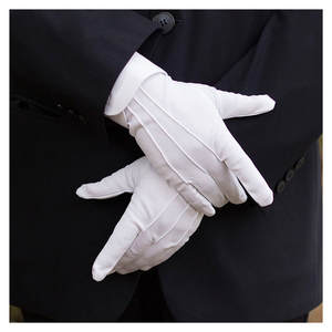HEALMEYOU 1Pair White Formal Tactical Gloves Men Winter