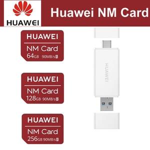 Image 1 - 화웨이 나노 메모리 카드 64GB 128GB 256GB 90 메가바이트/초 화웨이 P30 프로 메이트 20 프로 메이트 20 X RS 노바 5 프로 USB 3.1 2 In1 카드 리더