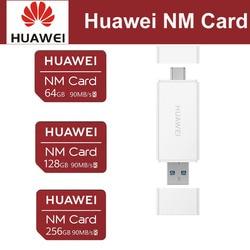 Huawei 社ナノメモリカード 64 ギガバイト 128 ギガバイト 256 ギガバイト 90 メガバイト/秒 huawei 社 P30 プロメイト 20 プロメイト 20 × RS ノヴァ 5 プロ USB 3.1 2 In1 カードリーダー