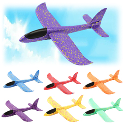 48cm Large EVA Foam Aircraft Toy Hand Throw Flight Glider Aircraft Airplane DIY Model Toy Throwing Roundabout Airplane Kid Gifts