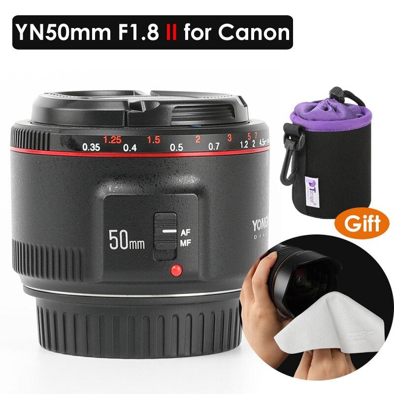 YONGNUO YN50mm lentille YN50mm F1.8 II objectif de mise au point automatique à grande ouverture pour Canon objectif effet Bokeh pour Canon EOS 70D 5D2 5D3 600D