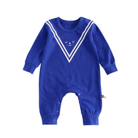 Navy Style Baby Rompers Hot Sale Casual Newborn Clothing Baby Boy Girl Romper Spring Autumn Long