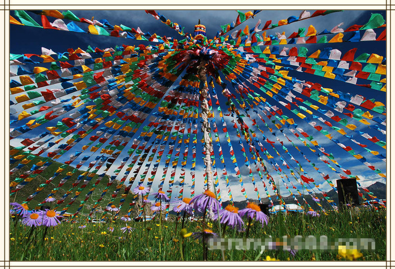 10 Tibetan Buddhist Prayer Flags
