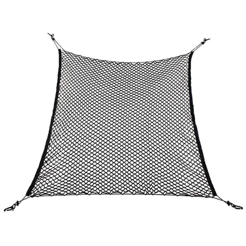 Coffre de voiture Arrière Cargo Organizer Stockage Élastique Maille Porte-Net 4 Crochets Vertueux
