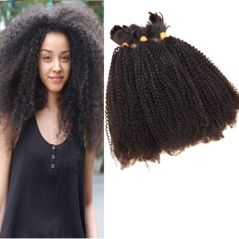 Brazilian Kinky Remy Micro Braiding Hair Clip On Bangs