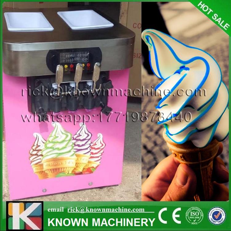2017 hot sale mini ice cream Maker machine soft serve 3 Flavors R22/R404/R410A refrigerant with CE certified hot sale red mini r