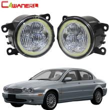 Cawanerl 2 X стайлинга автомобилей Передняя СВЕТОДИОДНЫЙ Фонарь Ангел глаз DRL дневного света 12 В для 2001- 2009 Jaguar X-Тип (CF1) салон