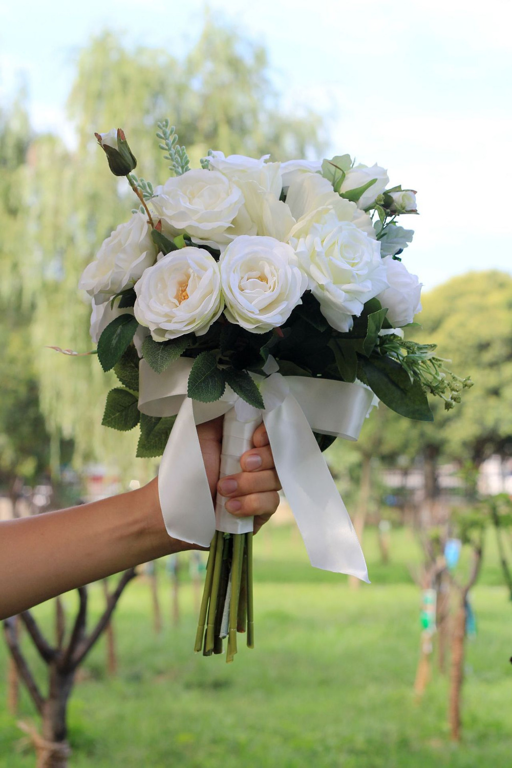 Studio Wedding Photo Simulation Holding Flowers Wedding Bouquets Women Country style Bridal Party Gifts Artificial flowers 2018