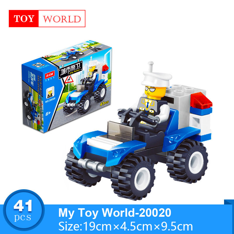 12 Kinds Original Mini Transportation Block Car Building Blocks Compatible legoeINGlys Duplo Soliders Police Bricks zk5 1