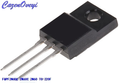 10pcs/lot FQPF2N60C <font><b>2N60C</b></font> 2N60 600V 2A MOSFET N-Channel transistor TO-220F new original In Stock image