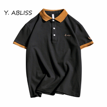 Y.ABLISS 2017 New Men Polo Shirt Business & Casual Embroidery Contrast Color male polo shirt Short Sleeve breathable polo