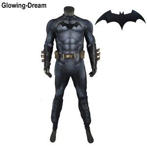 Светящаяся мечта, высокое качество, подкладка для мышц, костюм Бэтмена, рельефный мышечный костюм Бэтмена, косплей с логотипом для мужчин