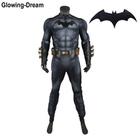 Glowing Dream High Quality Relif Muscle Padding Batman Suit Embossed Muscle Batman Cosplay Costume With Logo For Men