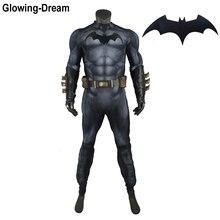זוהר חלום באיכות גבוהה Relif שרירים ריפוד באטמן חליפת בולט שרירים באטמן קוספליי תלבושות עם לוגו עבור גברים