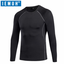 IEMUH Brand Spring Winter Men Sportswear T-shirts Warm Full Hiking Thermal Breathable Ski Camping Climbing